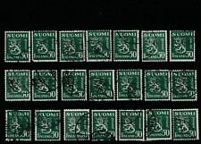 FINLAND - 1930 - 50p GREEN  USED DEFINITIVE STAMPS.