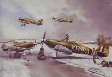 Hawker Hurricanes of Eagle Squadron - Stunning Blank Aviation Birthday Card