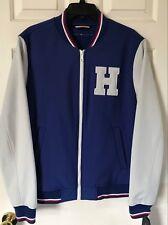 $160 NWT Mens Tommy Hilfiger H Varsity Letterman Bomber...