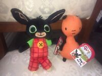 BING & FLOP 20cm SOFT TOY PLUSH NEW TAGS