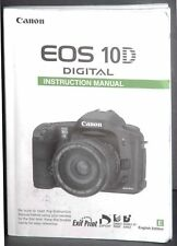 2003 CANON EOS 10D DIGITAL SLR CAMERA OWNERS INSTRUCTION MANUAL-CANON EOS SLR