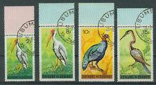 Burundi Briefmarken 1965 Vögel mit Rand Mi.Nr.146, 152, 153 unf 154