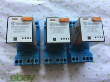 Lot of 3 Finder relay 60.12.8.120.0040 with 120vac coil /  socket 9.02