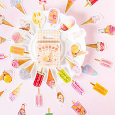 46pcs cute pink ice cream DIY Diary Craft Stickers Scrapbooking dRKCA