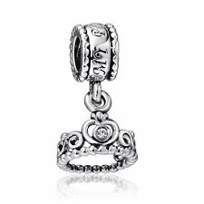 Brand Crown Pendant 925 Sterling Silver European Bead Charms Fit Women Bracelet