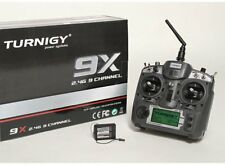 TURNIGY 9X 9CH TRANSMITTER Tx RADIO W/ MODULE AND 8CH RECEIVER V2 MODE 2 NEW USA