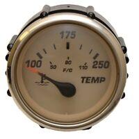 Faria Boat Water Temperature Gauge GP7701B   Euro Beige SS 2 Inch