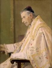 Oil painting jose benlliure y gil - sacerdote revestido clad priest old man art