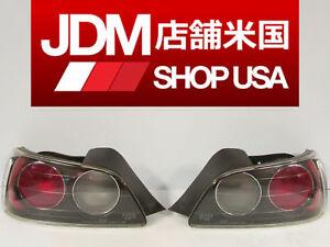 JDM 03 Honda S2000 AP1 OEM RH LH Tail Brake Lights F20c S2K, Chrome Circle