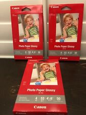 Canon Photo Paper Glossy (4x6) 50 Sheets Ink Jet Printing