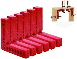 """Right Angle Positioning Square 4"""" Clamps 90 Degree Corner Woodworking 6Piece"""