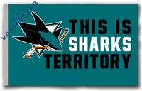 San Jose Sharks SHARKS Territory Souvenirs flag 90x150cm3x5ft best banner