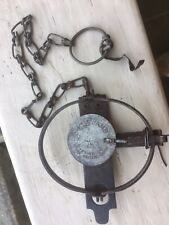 Blake & Lamb # 1 1/2 Spring Trap with Riveted on Post Made Usa Hawkins Cop. Conn