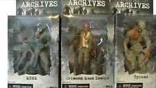 "NECA 7"" RESIDENT EVIL ARCHIVES SERIES 3 SET OF 3 ACTION FIGURES NEW IN THE BOX"