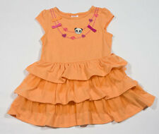 GYMBOREE 18M 24M NECKLACE DRESS PANDA ACADEMY ORANGE TIERED  TULLE BUTTON BOWS