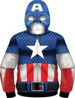 Captain America Marvel Comics Costume Sublimation Hoodie Shirt Jacket