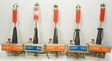 "Custom Made O Scale Manual Green/Red 3.4"" Inch Signal Switch Machine Lanterns x5"