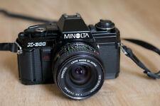 Reflex Minolta X300 35mm SLR +objectif 28 mm MD W Rokkor F3,5 TESTE SUR FILM !