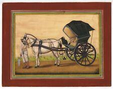 Mano Miniatura Art Dipinto Di Cavallo Buggy Sottile Dettagliato Soprammobile