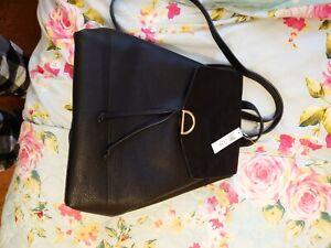 Accessorise Black Backpack Bag Beautiful NWT RRP 32.00 great Xmas gift