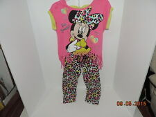 Girls Disney Mickey Mouse outfit lepord print Size 5T