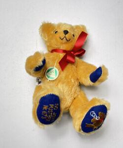 "Vintage NWT Ltd Ed HERMANN Tan Original Mohair Jointed ""jubilaums"" Teddy Bear"