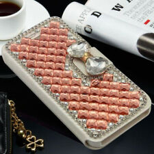 For Sharp R3 R2 Compact Bling Rhinestone Diamond Wallet Flip Leather Cover Case