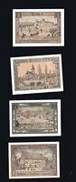 4x Notgeld Gutschein Serie 10,25,50,75 Pf   Gemeinde DIEPHOLZ  Stadt-Ansichten