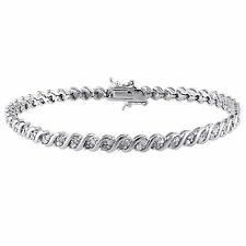 Amour Sterling Silver 1 ct TDW Diamond Bracelet J-K I2-I3