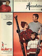 L- Publicité Advertising 1966 Pret à porter Vetements de ski Sufer Harmelaine