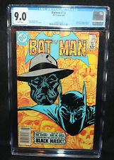 Batman #386 - Origin & 1st App of Black Mask - Newsstand - CGC Grade 9.0 - 1985