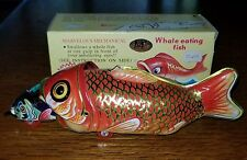 MS229 Fish-eating Whale Retro Collectible Tin Toy w/Box (2b)