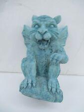 Crouching Winged Cat-Lioness Gargoyle Statue Figurine Goth 5274