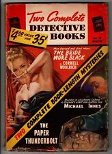 Two Complete Detective Books Winter 1952 Cornell Woolrich The Bride Wore Black