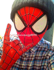 H/Q Spider-Man Red Hooded Mask Spiderman Lycra Fancy Cosplay Prop Halloween Gift