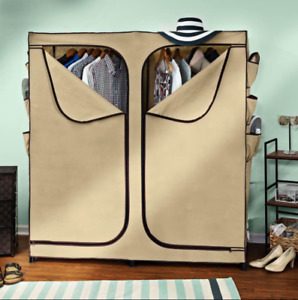 Clothing Rack Cover Heavy Duty Portable Wardrobe Closet Shoe Organizer Fresh