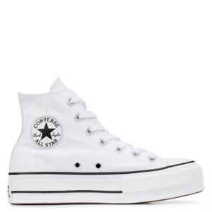CONVERSE All Star Hi Platform Canvas Woman White