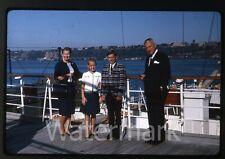 1964 kodachrome photo slide Aboard Ship MS Gripsholm Swedish American Line #1