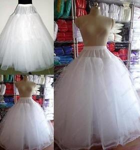 New 3 or 8 Layers Tulle no Hoop Wedding dress Petticoat Underskirt Crinoline AN