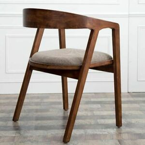Creative Solid Wood Dining Chair Wrought Iron Minimalist Backrest Chairs Home
