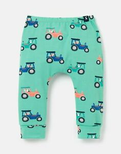 Joules Baby Boys Payton Organically Grown Cotton Leggings  - Green Tractor