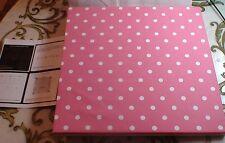 Pottery Barn Kid Girl Pink White Tack Board Pin Polka Dot Bedroom Dottie Tile NU