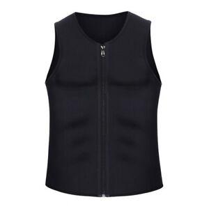 New Sauna Suit Top Mens Workout Vest Sweat Help Neoprene Shaper Shirt Sports Gym