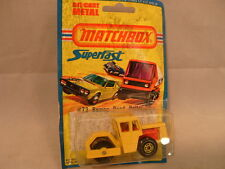 1976 MATCHBOX LESNEY SUPERFAST 72 BOMAG ROAD ROLLER NEW ON DAMAGED CARD
