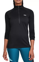 Under Armour Tech 1/2 Zip Pullover Shirt in Black -  Womens Ladies Fit **NWT!!**