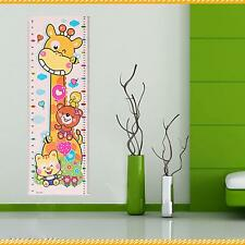 Cartoon Animals Baby Child Growth Height Measurement Chart Wall Sticker Mural