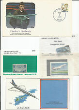 Aeronautic Lot Stamps Lindbergh Cover, Chad Concorde, Clipper, Transpacific