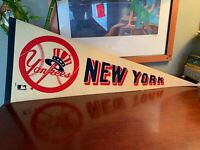 Vintage 1960's To 70's New York Yankees Pennant Very Rare Baseball History Wow