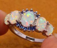 Traumhaft schöner Opal Ring 925  Silber Rhodiniert & ..zirkonia  neu,gr.54