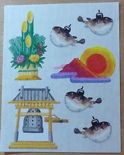 """Creative Memories Blockstickerbogen""""Japan / Kugelfische""""NEU/RAR"""